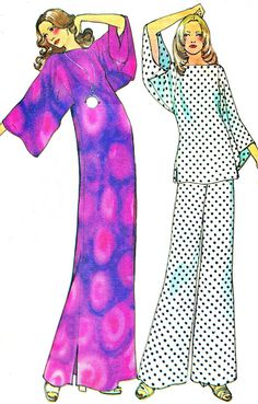 1970s McCalls 3590 Womens Caftan or Loose Fitting by paneenjerez, $10.00