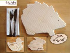 Brettchen - Kinder-Brotzeitbrett Tiere - ein Designerstück von Holzliebe bei DaWanda