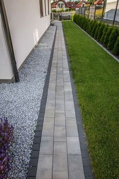 Side Yard Landscaping, Backyard Patio Designs, Modern Landscaping, Landscaping Ideas, Front Garden Landscape, Garden Paving, Landscape Edging, Back Garden Design, Small Backyard Gardens