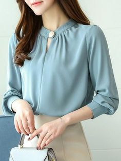 21 Colorful Blouses For College #blouse #chiffonblouse #silk #chiffon