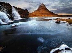 Montaña de #Kirkjufell, #Islandia