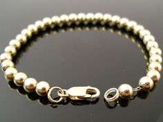 Bead Bracelet Silver Bracelet Gold Over Silver Sterling by Replays