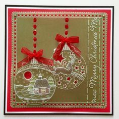 Twas the night baby plate Groovi card created by Tina Cox Simple Christmas Cards, Christmas Tree Baubles, Fall Cards, Xmas Cards, Parchment Design, Parchment Cards, Butterfly Template, Twas The Night, Paper Lace