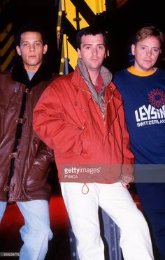 Electronic - Bernard Sumner and Johnny Marr at the Hacienda 1990s.