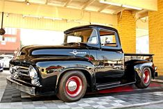 Just a motorhead looking for a place to feed an addiction. Mostly American iron, with an occasional European splash. Preferences given to hot rods and muscle cars. Ford 56, 1956 Ford Truck, Ford Pickup Trucks, Chevy Trucks, Jeep Pickup, Antique Trucks, Vintage Trucks, Ford Motor Company, Hot Rods