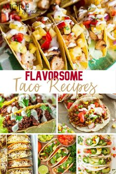 Recipes for Taco Tuesday - See New Easy and Tasty Ideas Tuesday will become everyone's favorite night of the week with these Taco Recipes to add to the menu. These recipes are great served any night of the week and when you have company. Easy Dinner Recipes, Breakfast Recipes, Easy Meals, Dinner Ideas, Meal Ideas, Food Ideas, Crockpot Recipes, Cooking Recipes, Healthy Recipes