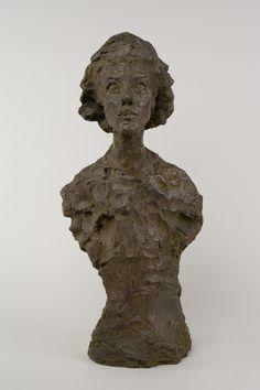 Buste d'Annette VIII, 1962  Bronze, 59 x 26,70 x 22,80 cm  Fonte Susse (1965), 0/6  Fondation Alberto et Annette Giacometti, Paris, inv. 1994-0003  © Succession Alberto Giacometti (Fondation Giacometti, Paris + ADAGP, Paris)