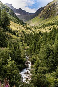 Alplandschaft im Goms, Wallis, Schweiz