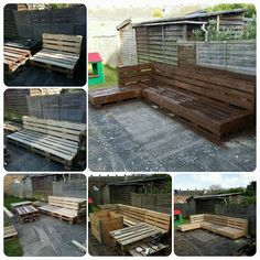 This great step-by-step instruction will help you create the perfect pallet garden corner sofa. What's great about using the pallets is that you can make these sofas as long or short as you'd like. You can easily cater to a small, family living space or a cool outdoor party hangout. Once you figure out the number of people you want to create a space for, you can use the wood accordingly.