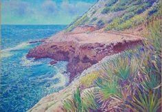 Oil on linen, 50x70 cm. www.hogstvedt.com Monet, Impressionist, Grand Canyon, Spain, Oil, Nature, Artwork, Travel, Painting