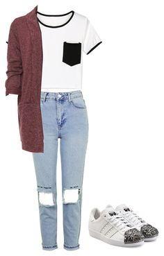 """""""Untitled #17"""" by beata-apanasewicz on Polyvore featuring WithChic, Topshop, WearAll, adidas Originals and plus size clothing"""