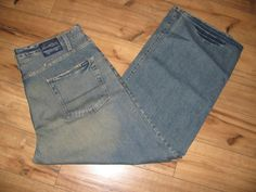 Levis Signature Mens Blue Jeans 38 X 32  Loose Straight Fit  #Levis #LooseStraight