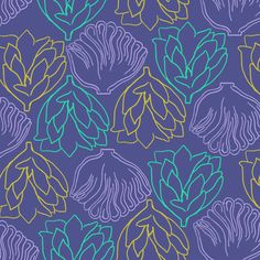 #pattern #floral #purple #yellow #blue #decor #home floral / by Taki Trik