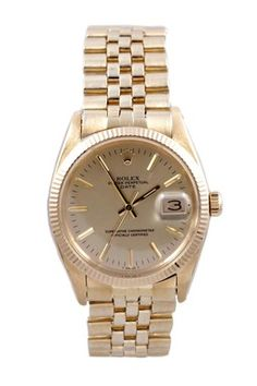 c284afa1ee4 Vintage Rolex Men s Date Yellow Gold Automatic Watch Dream Watches