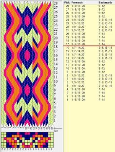 20 tarjetas hexagonales, 4 colores, repite cada 16 movimientos// sed_798_c6 diseñado en GTT༺❁