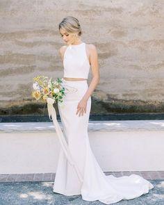 On Trend: 12 Bridal Separates - Breaking The Rules ❤ breaking the rules bridal separates simple mermaid cassie valente #weddingforward #wedding #bride #weddingoutfit #bridaloutfit #weddinggown