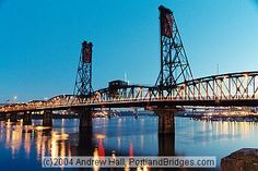 Hawthorne Bridge: Finished in 1910, this is Portland's oldest surviving highway bridge, a lift bridge, and is one of the the oldest surviving lift bridges in the world. The bridge replaced an earlier bridge - the Madison Street Bridge - that lasted from 1891 until it burned in 1902.[1]