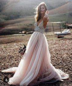 Princess Prom Dresses, Pink Prom Dresses, Long Prom Dresses With Beaded/Beading Sleeveless Sweep train Princess Prom Dresses, V Neck Prom Dresses, V Neck Wedding Dress, Pink Wedding Dresses, Dresses Short, Prom Dresses 2018, Tulle Prom Dress, Cheap Prom Dresses, Sexy Dresses