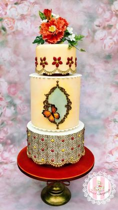 Moroccan wedding cake by Sweet Surprizes - http://cakesdecor.com/cakes/307499-moroccan-wedding-cake