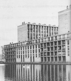 Fernand Pouillon, Meudon-la-Foret, 1961 French Architecture, Classical Architecture, Building Contractors, Multi Story Building, Louvre, Exterior, Urban, Facades, Thesis