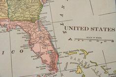 1901 Vereinigte Staaten antike Karte von Figure10 auf Etsy