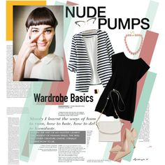 nude pumps styled by lyudmyla on Polyvore featuring Azalea, Kate Spade, Joanna Maxham, Fornash and Oris