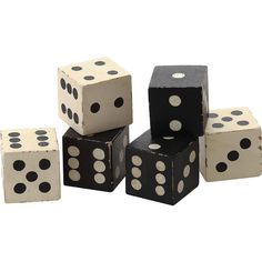 Dot & Bo Classic Casino Dice Décor - Set of 6 (€21) ❤ liked on Polyvore featuring home, home decor, decor, backgrounds, filler, black and white, dice and black and white home decor