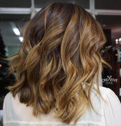 Golden Brown Balayage Bob