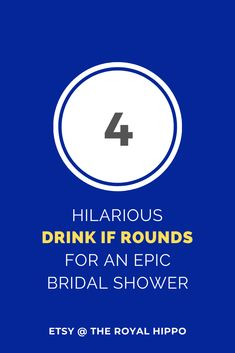 Drink If Game - Bridal Shower 4 super easy and fun rounds for a great Hen Party and fun Bridal Shower. Easy Rules: Go through the list and if a statement applies to you, take a drink! Sure to be a hit at any bridal shower Fun Bridal Shower Games, Printable Bridal Shower Games, Bachelorette Drinking Games, Hens Night, Card Games, How To Apply, Drinks, Super Easy, Modern