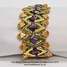 Ava Beads Bracelet Pattern: Diamonds                                                                                                                                                                                 More