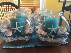 Pool Party Ideas for Summer – Summer Style – Grandcrafter – DIY Christmas Ideas ♥ Homes Decoration Ideas Moana Birthday Party, Hawaiian Birthday, Moana Party, Luau Party, Mermaid Birthday, Seashell Crafts, Beach Crafts, Moana Centerpieces, Beach Party Centerpieces