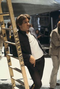 "Harrison Ford on the set of ""The Empire Strikes Back"""