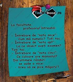 TimpMoca.ro - Examen Song Lyrics, Truths, Comedy, Jokes, Humor, Sayings, My Love, Funny, Inspiration