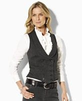 Ralph Lauren double breasted vest. $139.00