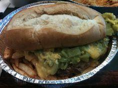 Green chile, cheddar, prime rib sandwich from Carlito's Burritos Las Vegas, NV