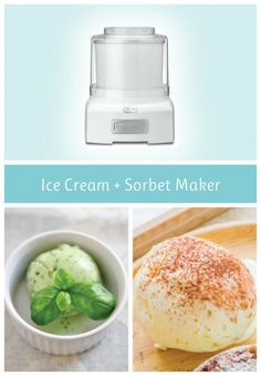 Ice cream and sorbet maker, food processor and waffle maker registry options!  And an awesome giveaway!