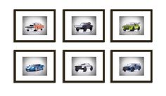 Discount Set of 6 Fast and furious cars photo print,boys room decor,kids room…