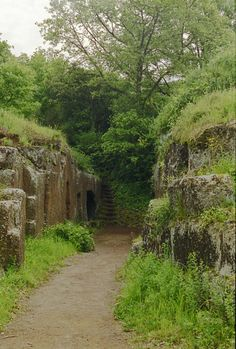 Etruscan tombs in Cerveteri, Italy, City of the Dead
