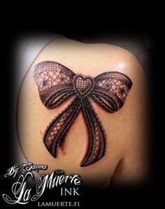 lace bow tattoos on legs corset - Google Search