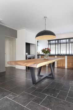 Industrial Style Dining Table, Dinning Table, Welded Furniture, Fine Furniture, Wood Table Design, Dining Room Design, Modern Grey Kitchen, Iron Table Legs, Dining Room Wainscoting
