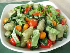 Gnocchi with Sauteed Vegetables