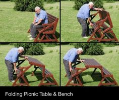 Convertible Bench Picnic Table Plans | Free Convertible Picnic Table Bench Plans PDF Plans Download