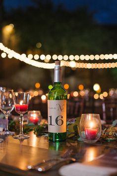 ワインボトルのテーブル番号