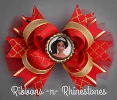 hair bows Disney has a new princess! This Princess Elena of Avalor Boutique Style Hair bow measures approximately 4 - 5 across and comes secured to a partially lined, double pronged al Disney Princess Hairstyles, Princess Hair Bows, Girl Hair Bows, Girls Bows, Princess Elena Of Avalor, Disney Hair Bows, Hair Bow Tutorial, Boutique Hair Bows, Ribbon Hair Bows