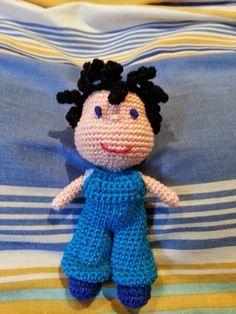 Teia de Carinhos: BB Boy (receita da Vanja Grundmann do FairyDolls Crochet)