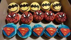 Superhero Cupcakes- Batman, Spiderman, Superman