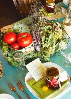 table centerpieces made with fruits and vegetables - Google Search