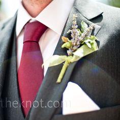 Lavender Wedding Boutonniere