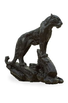 An original sculpture by Dylan Lewis entitled: 'S357 Alerted Leopard II Maquette.'   For more please visit www.finearts.co.za