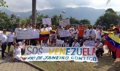 #30M En Río de Janeiro venezolanos  también se movilizan #360UCV
